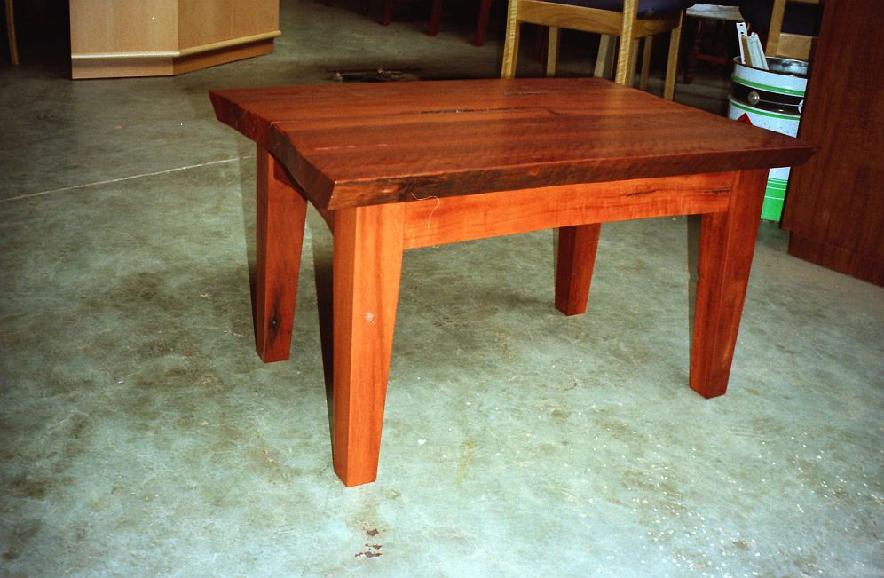 Redgum Slab Coffee table DIY Furniture Plans Technical Puzzles